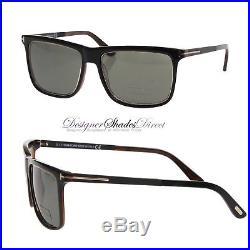 Tom Ford Sunglasses TF392 01R KARLIE Wayfare Jet Black Gold Square Polarized New