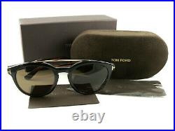 Tom Ford Sunglasses TF515 Newman 05H Tortoise Brown Polarized FT0515/S Authentic