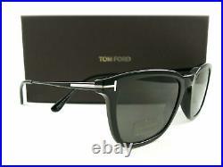 Tom Ford Sunglasses TF625 Arnaud-02 01D Black Gray Polarized FT0625/S Authentic