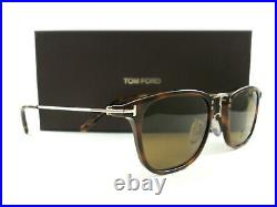 Tom Ford Sunglasses TF672 Beau Tortoise Gold Brown 53E FT0672/S New Authentic