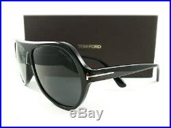 Tom Ford Sunglasses TF732 Thomas 01A Black Gray FT0732/S New Authentic