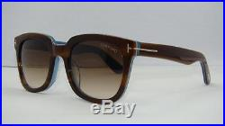 Tom Ford TF 211 47F Havana & Blue Sunglasses Brown Gradient Lenses Size 53