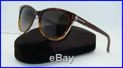 Tom Ford TF 213 56B Dark Havana Sunglasses Grey Gradient Lens Size 57