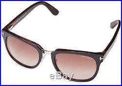 Tom Ford TF 290 50J Rock Square Dark Brown Gold / Brown Sunglasses NIB FT0290