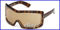Tom Ford TF 305 Olga 52J Tortoise Brown Shield Ski FT0305/S Men Women Sunglasses