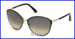 Tom Ford TF 320 FT0320 Penelope shiny rose gold shiny blk 28B Sunglasses