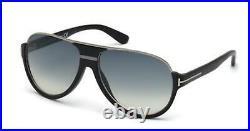 Tom Ford TF 334 FT0334 Dimitry matte blk shiny dark ruthenium 02W Sunglasses