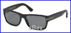 Tom Ford TF 445 FT0445 Mason matte blk smoke polarized 02D Sunglasses