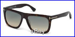 Tom Ford TF 513 FT0513 Morgan dark havana gradient blue 52W Sunglasses