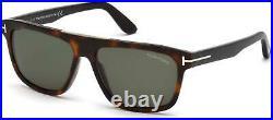 Tom Ford TF 628 FT0628 Cecilio-02 shiny dark havana green lenses 52N Sunglasses