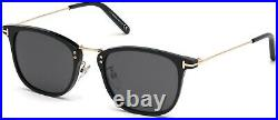 Tom Ford TF 672 FT0672 Beau shiny blk shiny rose gold smoke 01A Sunglasses