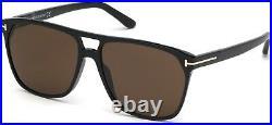 Tom Ford TF 679 FT0679 Shelton shiny blk brown lenses 01E Sunglasses