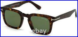 Tom Ford TF 751 FT0751 Dax shiny classic dark havana green 52N Sunglasses