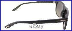 Tom Ford TF236 Olivier 02D Matte Black Plastic Sunglasses Grey Gradient Lens