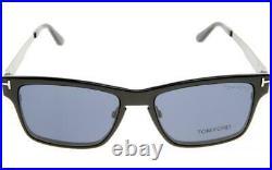 Tom Ford TF5475 12V Ruthenium/Grey Mens Eyeglasses WithMagnetic Clip On Sunglasses
