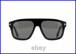 Tom Ford THOR FT0777 TF 777 01D Shiny Black Gold Grey Polarized Large Sunglasses