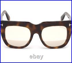 Tom Ford Thea-02 FT0687 53Z Havana Brown Frame Rose Gold Lenses Sunglasses 51mm