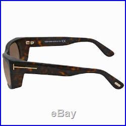 Tom Ford Toby Brown Gadient Rectangular Sunglasses FT0440 52K FT0440 52K