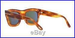 Tom Ford WAGNER-02 FT 0558 blonde havana/green (53N) Sunglasses