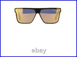 Tom Ford WHYAT FT0709 FT 709 01G Black Gold Mirror Shield Men Sunglasses Italy