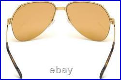 Tom Ford WILDER-02 FT 0644 32J Gold Havana Aviator Pilot Sunglasses Sonnenbrille
