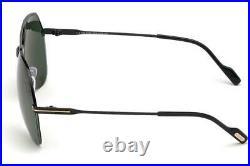 Tom Ford WILDER-02 FT 0644 O1N Black Pilot Sunglasses Sonnenbrille Green Lens