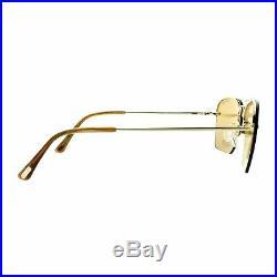 Tom Ford Walker TF0504 28E Rose Gold Aviator Semi Rim Women 100% UV Sunglasses