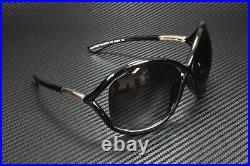 Tom Ford Whitney FT0009 01D Shiny Black Polarized Grey 64 mm Women's Sunglasses