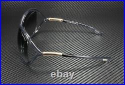 Tom Ford Whitney FT0009 0B5 Shiny Dark Grey Grad Smoke 64 mm Women's Sunglasses