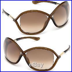 Tom Ford Whitney Sunglasses TF 9 692 Dark Brown / Brown Gradient Lens FT0009