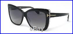 Tom Ford Women Irina Sunglasses Black Crystal Polarized Grey Gradient 0390 03d
