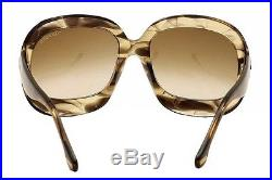 Tom Ford Women's Bianca TF83 TF/83 U45 Melange Brown Fashion Sunglasses 58mm