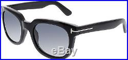 Tom Ford Women's Campbell FT0198-01A-53 Black Square Sunglasses
