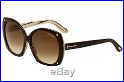 Tom Ford Women's Gabriella TF362 TF/362 50F Brown Fashion Sunglasses 59mm