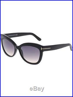 Tom Ford Women's Gradient Alistair FT0524-01B-56 Black Cat Eye Sunglasses