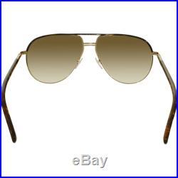 Tom Ford Women's Gradient Cole FT0285-52K-61 Tortoiseshell Aviator Sunglasses