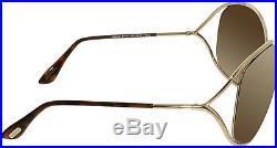 Tom Ford Women's Gradient Miranda FT0130-28G-68 Gold Oval Sunglasses