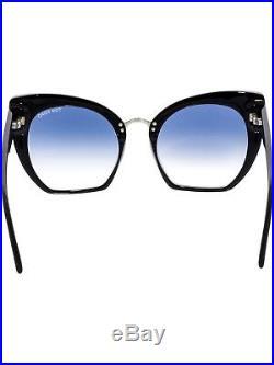 Tom Ford Women's Gradient Samantha FT0553-01W-55 Black Cat Eye Sunglasses