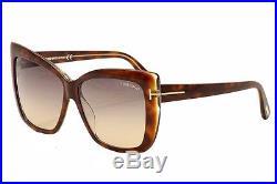 Tom Ford Women's Irina TF390 TF/390 53F Havana/Gold Cat Eye Sunglasses 59mm