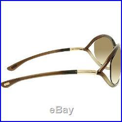 Tom Ford Women's Jennifer FT0008-38F-61 Brown Square Sunglasses