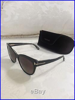 b73f6b532d2 Tom Ford Women s Lily TF430 Black Polarized Cateye Sunglasses