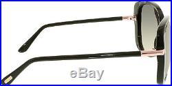 Tom Ford Women's Linda FT0324-01B-59 Black Cat Eye Sunglasses