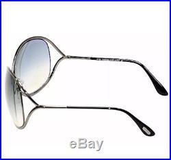 Tom Ford Women's Miranda TF 130 08B Shiny Gunmetal Black Grey Sunglasses ITALY