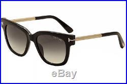 Tom Ford Women's Tracy TF436 TF/436 01B Black/Beige Fashion Sunglasses 53mm