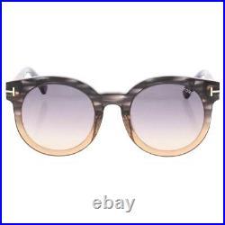 Tom Ford Womens Janina Gray Ombre Signature Round Sunglasses O/S BHFO 7734