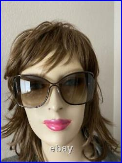 Tom Ford Womens Metal Plastic Brown Over Sized Open Eugenia Sunglasses