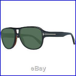Tom Ford stylische Herren Sonnenbrille Piloten-Stil 100% UVA & UVB Schwarz SALE